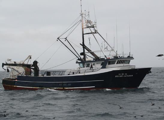 The F/V Ocean Leader, part of the Golden Alaska catcher fleet